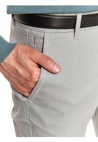 TOP SECRET - Spodnie długie męskie chino, slim. Okazja: do pracy, na co dzień. Kolor: szary. Materiał: tkanina, bawełna. Długość: długie. Sezon: wiosna. Styl: elegancki, sportowy, casual