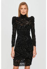 Czarna sukienka Silvian Heach na co dzień, klasyczna
