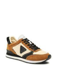 Guess Sneakersy New Glorym FM7NGM SUE12 Brązowy. Kolor: brązowy