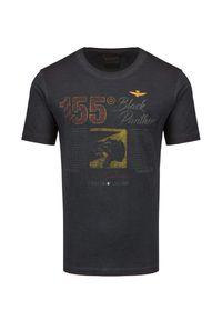 Aeronautica Militare - T-shirt AERONAUTICA MILITARE. Materiał: bawełna. Wzór: motyw zwierzęcy, haft, aplikacja, nadruk