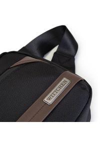 Wittchen - Męska torebka nerka z krytym suwakiem. Kolor: wielokolorowy, brązowy, czarny. Materiał: poliester. Wzór: aplikacja. Styl: sportowy, klasyczny