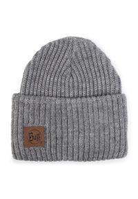 Buff - Czapka BUFF - Knitted Hat 117845.938.10.00 Rutger Melange Grey. Kolor: szary. Materiał: wełna, akryl, materiał