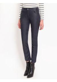 Niebieskie spodnie TOP SECRET casualowe, na zimę, na co dzień, długie