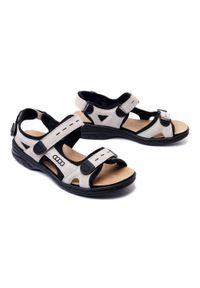 Beżowe sandały Rieker na rzepy