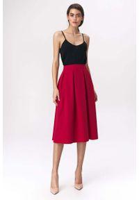 Czerwona spódnica rozkloszowana Nife