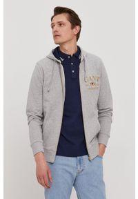 GANT - Gant - Bluza bawełniana. Okazja: na co dzień. Typ kołnierza: kaptur. Kolor: szary. Materiał: bawełna. Styl: casual