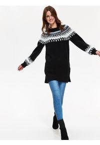 Niebieski sweter TOP SECRET na jesień, długi
