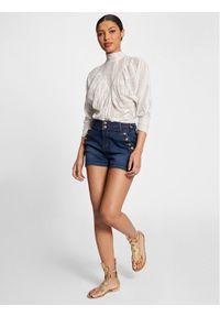 Morgan Szorty jeansowe 211-SHARAH Granatowy Regular Fit. Kolor: niebieski. Materiał: jeans