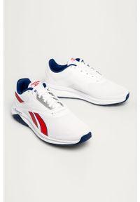 Białe buty sportowe Reebok z cholewką, na sznurówki