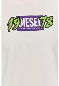 Biała bluza Diesel bez kaptura, długa