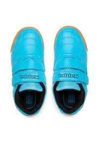 Kappa - Sneakersy KAPPA - Kickoff K 260509K Azur/Black 6211. Zapięcie: rzepy. Kolor: niebieski. Materiał: skóra ekologiczna, materiał. Szerokość cholewki: normalna #7