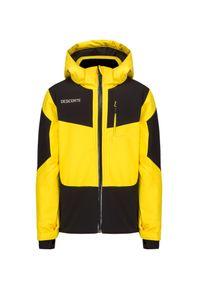 Żółta kurtka zimowa Descente