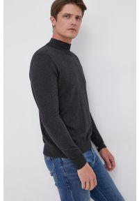 Pepe Jeans - Sweter z domieszką wełny Charles. Kolor: szary. Materiał: wełna. Długość rękawa: długi rękaw. Długość: długie