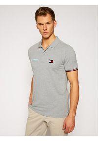 Tommy Hilfiger Tailored Polo MERCEDES-BENZ Logo TT0TT08493 Szary Regular Fit. Typ kołnierza: polo. Kolor: szary