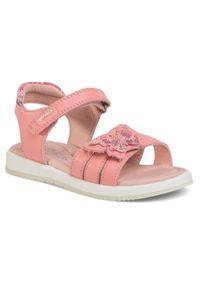 Różowe sandały Garvalin na lato