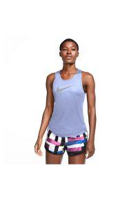 Koszulka damska do biegania Nike Dri-FIT CJ1974. Materiał: tkanina, materiał, poliester. Długość rękawa: bez rękawów. Technologia: Dri-Fit (Nike)