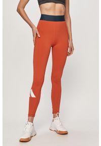 Pomarańczowe legginsy adidas Performance