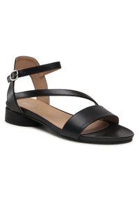 Edeo - Sandały EDEO - 3663-741 Czarny. Kolor: czarny. Materiał: skóra. Sezon: lato