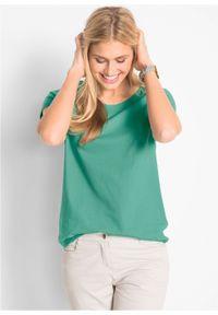 Shirt z okrągłym dekoltem (5 szt.), krótki rękaw bonprix jasna limonka + zielony szałwiowy + kobaltowy + jasnoszary melanż + czarny. Kolor: żółty. Materiał: jersey. Długość rękawa: krótki rękaw. Długość: krótkie. Wzór: melanż #5