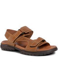Brązowe sandały Gino Rossi na co dzień, na lato, casualowe