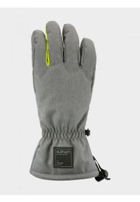 outhorn - Rękawiczki narciarskie męskie. Materiał: poliester, skóra, syntetyk. Sport: narciarstwo