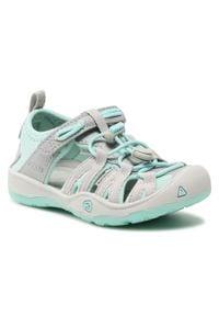 keen - Sandały KEEN - Moxie Sandal 1025095 Blue Tint/Vapor. Kolor: wielokolorowy, zielony, szary. Materiał: materiał