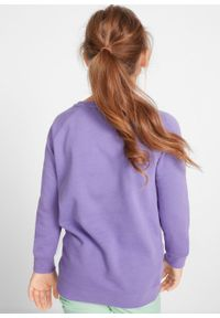 Fioletowa bluza bonprix z nadrukiem