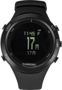 Czarny zegarek sunroad smartwatch
