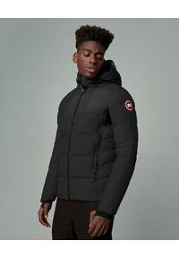 CANADA GOOSE - Czarna kurtka puchowa HyBridge. Typ kołnierza: kaptur. Kolor: czarny. Materiał: puch. Długość: długie