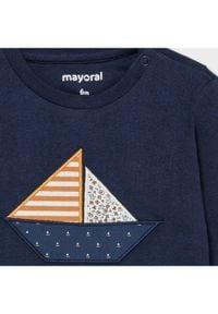 Mayoral Bluzka 1017 Granatowy Regular Fit. Kolor: niebieski