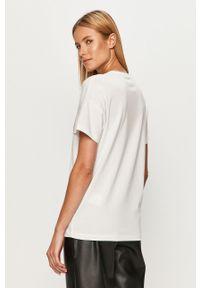 Biała bluzka Noisy may na co dzień, casualowa