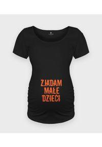 MegaKoszulki - Koszulka damska ciążowa - Oversize Zjadam małe dzieci. Kolekcja: moda ciążowa