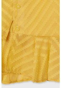 Mayoral - Bluzka dziecięca. Okazja: na co dzień. Kolor: pomarańczowy. Materiał: poliester, tkanina, materiał, bawełna. Długość rękawa: bez rękawów. Wzór: gładki. Styl: elegancki, casual #5