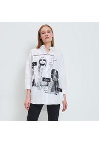 Mohito - Koszula z nadrukiem - Biały. Kolor: biały. Wzór: nadruk