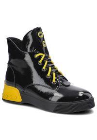 Artiker - Botki ARTIKER 49C0336 Czarny/Żółty. Kolor: wielokolorowy, żółty, czarny