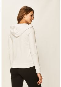 Biała bluza rozpinana Armani Exchange na co dzień, z aplikacjami