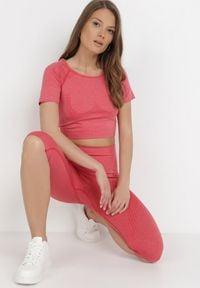 Born2be - Czerwony 2-Częściowy Komplet Sportowy Acastios. Kolor: czerwony. Materiał: materiał