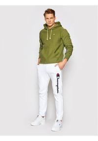 Champion Bluza Reverse Weave 214675 Zielony Custom Fit. Kolor: zielony