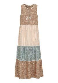 Cream Wzorzysta sukienka z wiskozy Tallis we wzory female ze wzorem 40. Materiał: wiskoza. Długość rękawa: bez rękawów. Wzór: aplikacja, koronka