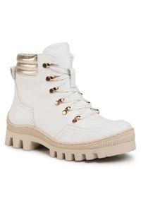 Białe buty trekkingowe R.Polański z cholewką