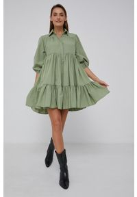 Answear Lab - Sukienka. Kolor: turkusowy. Materiał: tkanina. Styl: wakacyjny