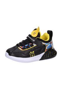 American Club - Sportowe buty dziecięce AMERICAN BD05/21 BK. Kolor: czarny. Materiał: skóra