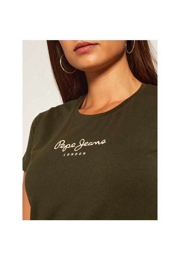 Zielony t-shirt Pepe Jeans