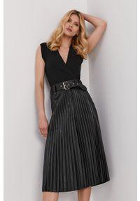 Czarna sukienka Morgan casualowa, midi