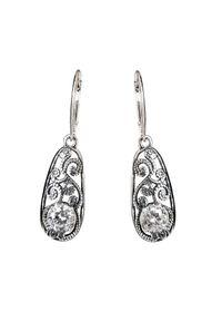 Polcarat Design - Srebrne kolczyki z cyrkoniami K 2068. Materiał: srebrne. Kolor: srebrny. Kamień szlachetny: cyrkonia