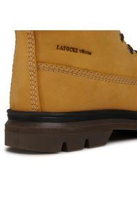 Brązowe buty zimowe Lasocki Young z cholewką