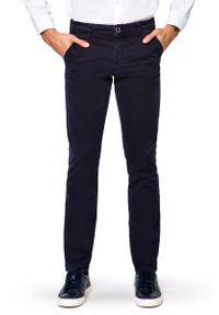 Niebieskie spodnie Lancerto sportowe, w kolorowe wzory