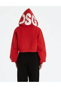 DSG - Czerwona bluza Kylie. Okazja: na co dzień. Kolor: czerwony. Materiał: bawełna. Długość rękawa: długi rękaw. Długość: długie. Wzór: aplikacja. Styl: casual