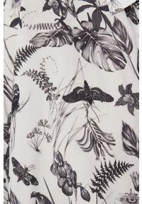medicine - Medicine - Koszula Graphic Bouquet. Kolor: biały. Długość rękawa: krótki rękaw. Długość: krótkie