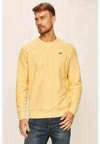 Żółta bluza nierozpinana Levi's® casualowa, na spotkanie biznesowe, w kolorowe wzory, z okrągłym kołnierzem